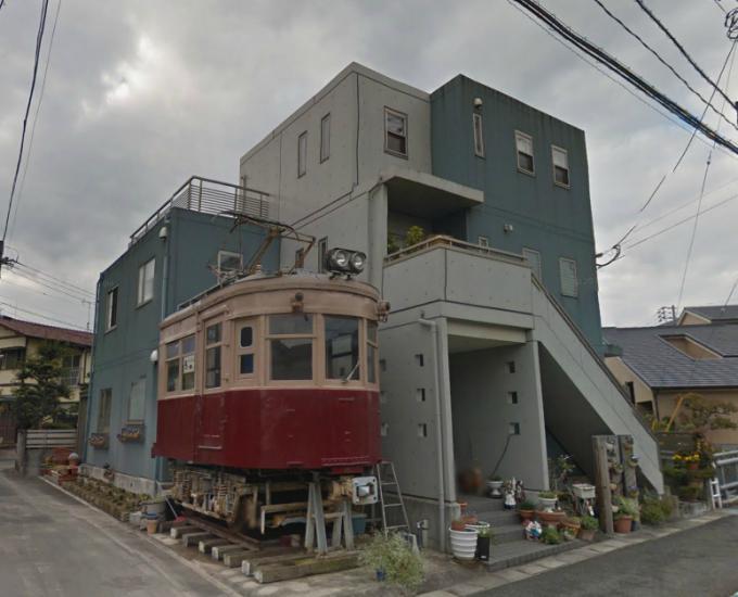 個人宅で静態保存された大牟田線200形