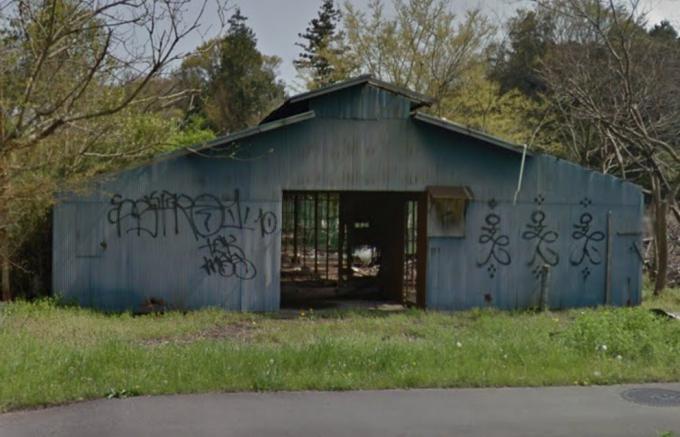 つくば市大角豆の厩舎跡