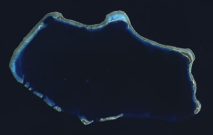 ビキニ環礁核実験跡