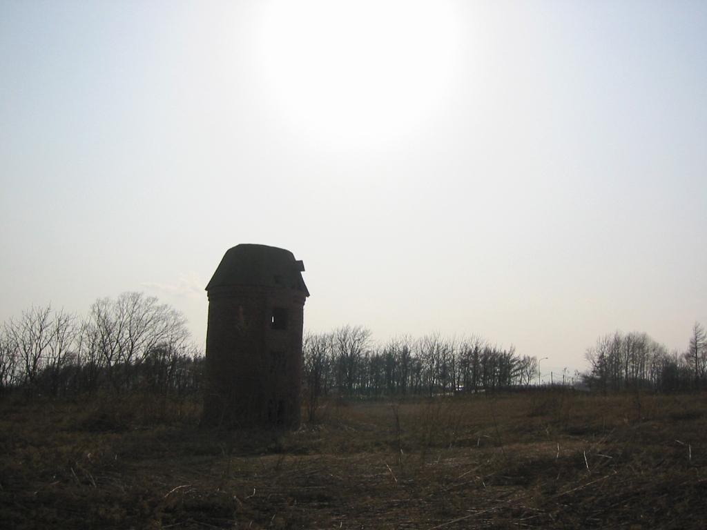 江別市元野幌のサイロ跡
