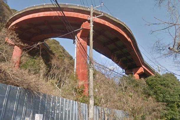 赤沢八幡野連絡橋(未完成ループ橋)
