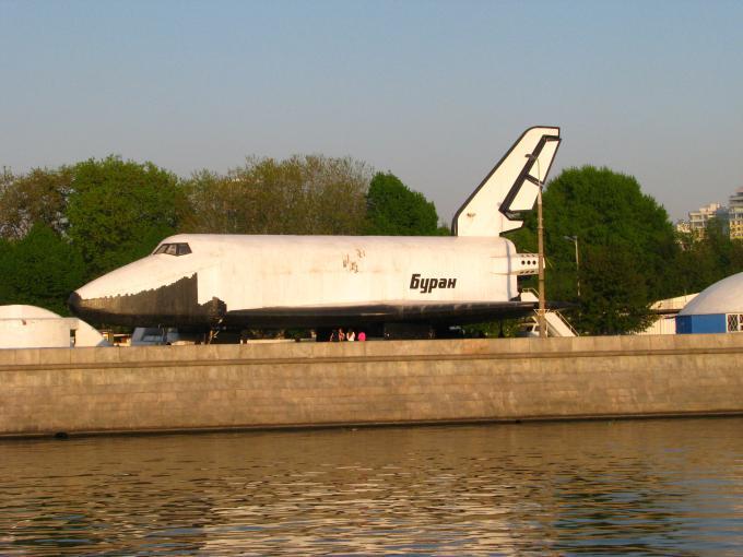 ロシアのスペースシャトル模型